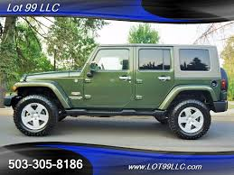 green jeep rubicon 2007 jeep wrangler unlimited sahara 6 speed manual hard top for