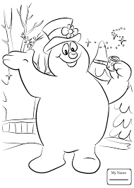 large snowman coloring page frosty the snowman coloring pages with wallpaper free