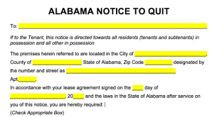 free alabama eviction notice forms process and laws pdf word