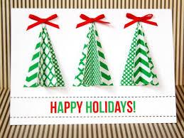 handmade christmas handmade christmas tree card hgtv