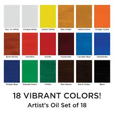 Shades Of Orange Colour Marie U0027s Artists U0027 Oil Colour Set Jerry U0027s Artarama