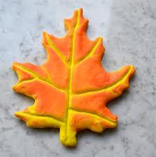how to make realistic autumn leaf cookies celebrate u0026 decorate