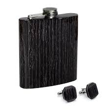 Wooden Flasks Black Oak Collection Bug Wooden Accessories
