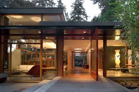 Midcentury Modern Home - woodway residence in seattle bohlin cywinski jackson