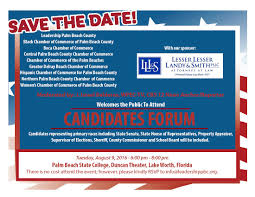 2016 candidate forum leadership palm beach county