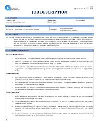 Supervisor Qualifications Resume Download Inventory Manager Job Description Haadyaooverbayresort Com
