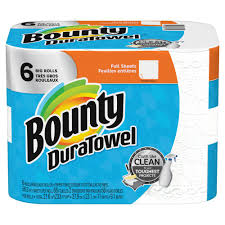 Home Depot Deal Of Day by Bounty Duratowel 2 Ply White Paper Towels 6 Big Rolls