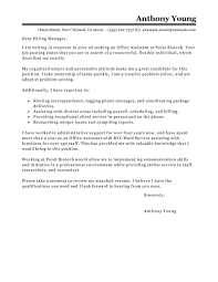 Unit Secretary Cover Letter Best Office Assistant Cover Letter Examples Livecareer