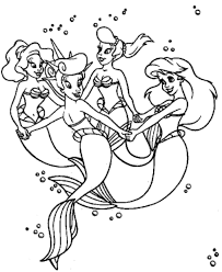 stunning the little mermaid coloring pages by the little mermaid