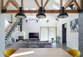 High Ceiling Living Room by Contemporary Home Design In Kiev By Tseh Architectural Group Has