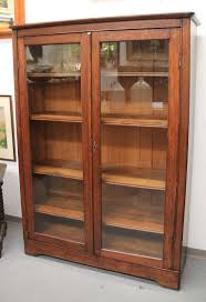Solid Wood Bookcases With Glass Doors Found In Ithaca Mission Oak Glass Door Bookcase Sold Wood