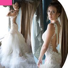 aliexpress com buy backless lace wedding dresses mermaid