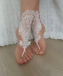 barefoot sandals for wedding accessories ivory bridal barefoot sandals 2260375 weddbook