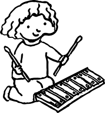 coloring pages xylophone