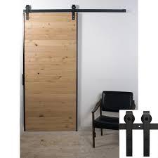 Cheap Patio Door by Antique Black Wooden Single Sliding Barn Closet Door Heavy Duty