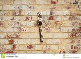 fading painted brick wall stock photo image 46435202