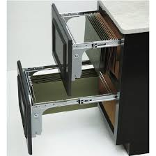 file cabinet with pull out shelf rev a shelf pull out file drawer system for kitchen or desk cabinet