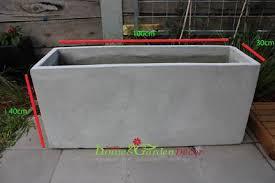 Concrete Rectangular Planter by Planter Box Pots U0026 Garden Beds Gumtree Australia Free Local