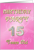 15th birthday invitations from greeting card universe