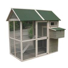 Backyard Chicken Coup by Innovation Pet Extra Large Green Walk In Coop Up To 15 Chickens