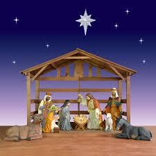world nativity créche w stable 40 10 set