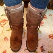 s genuine ugg boots 84 ugg boots genuine ugg brown drawstring sheepskin boots