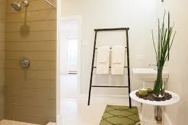 Floor Towel Racks For Bathrooms by Asian Towel Racks And Stands Bathroom Contemporary With Beige