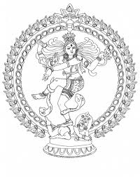 nataraja lord of the dance coloring page at storytime yoga for