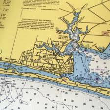 Map Destin Florida by Destin Florida And Choctawhatchee Bay Vintage Nautical Chart