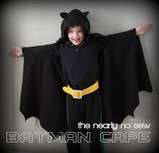 Cape Halloween Costume Homemade Batman Costume Kids Vanilla Joy