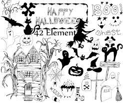 halloween clipart halloween clip art doodle