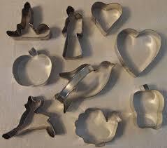 vintage metal cookie cutters santa hearts deer and more