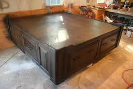 King Size Platform Bed With Storage How To Build A Platform Bed Full Size Platform Bed Frame