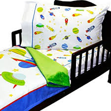 amazon com 3pc roomcraft blast off toddler bedding set outer