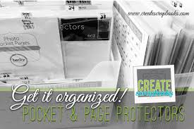 scrapbook page protectors get it organized how to organize your project pocket page