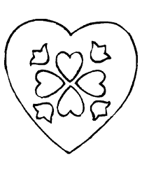 coloring pages of heart pictures of hearts to color coloring home