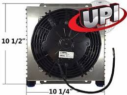 oil cooler with fan stacked plate rod engine or transmission oil cooler with shroud