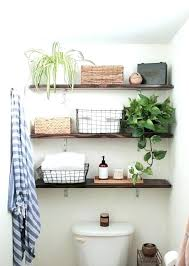 Wooden Shelves For Bathroom Rustic Wood Floating Shelves With Bathroom Idea 18