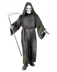 White Halloween Costume Grave Reaper Costume Reaper Cowl Halloween Horror Shop