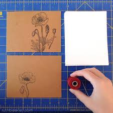 poppy watercolor sketchbook handmade gift for an artist or