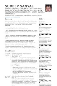director of operations resume of operations resume sles visualcv resume sles database