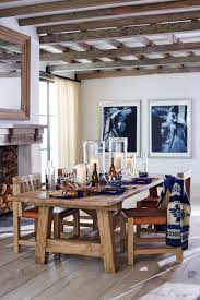 ralph lauren home u0027s rustic dining table in barn door oak sets a