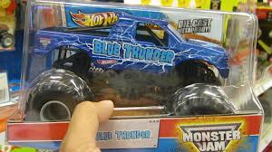 youtube monster trucks jam unboxing blue thunder monster jam truck youtube