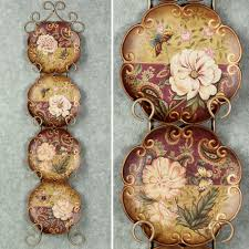 natures decorative ceramic plate set