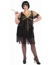 roaring 20 s black gold flapper dress plus size 16 22 ebay
