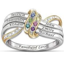 personalized rings for mothers strength of family personalized diamond ring strength