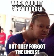 Hamburger Memes - black girl wat meme imgflip