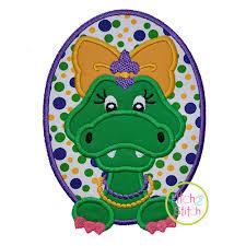 mardi gras alligator mardi gras alligator girl applique