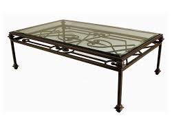 Glass And Metal Coffee Tables The Best Iron Coffee Table With Glass Top