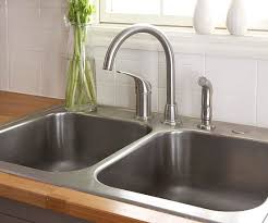 faucets kitchen sink how to install a sink and faucet